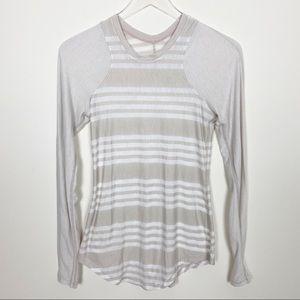 Lululemon striped cream top